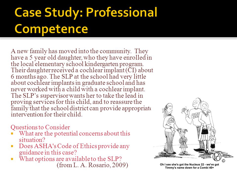 Case Study: Professional Competence