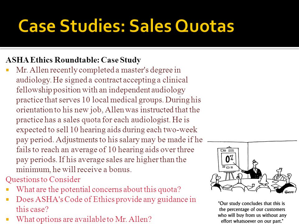 Case Studies: Sales Quotas