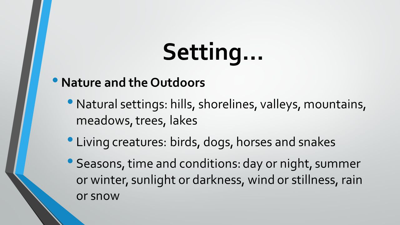 Setting… Nature and the Outdoors