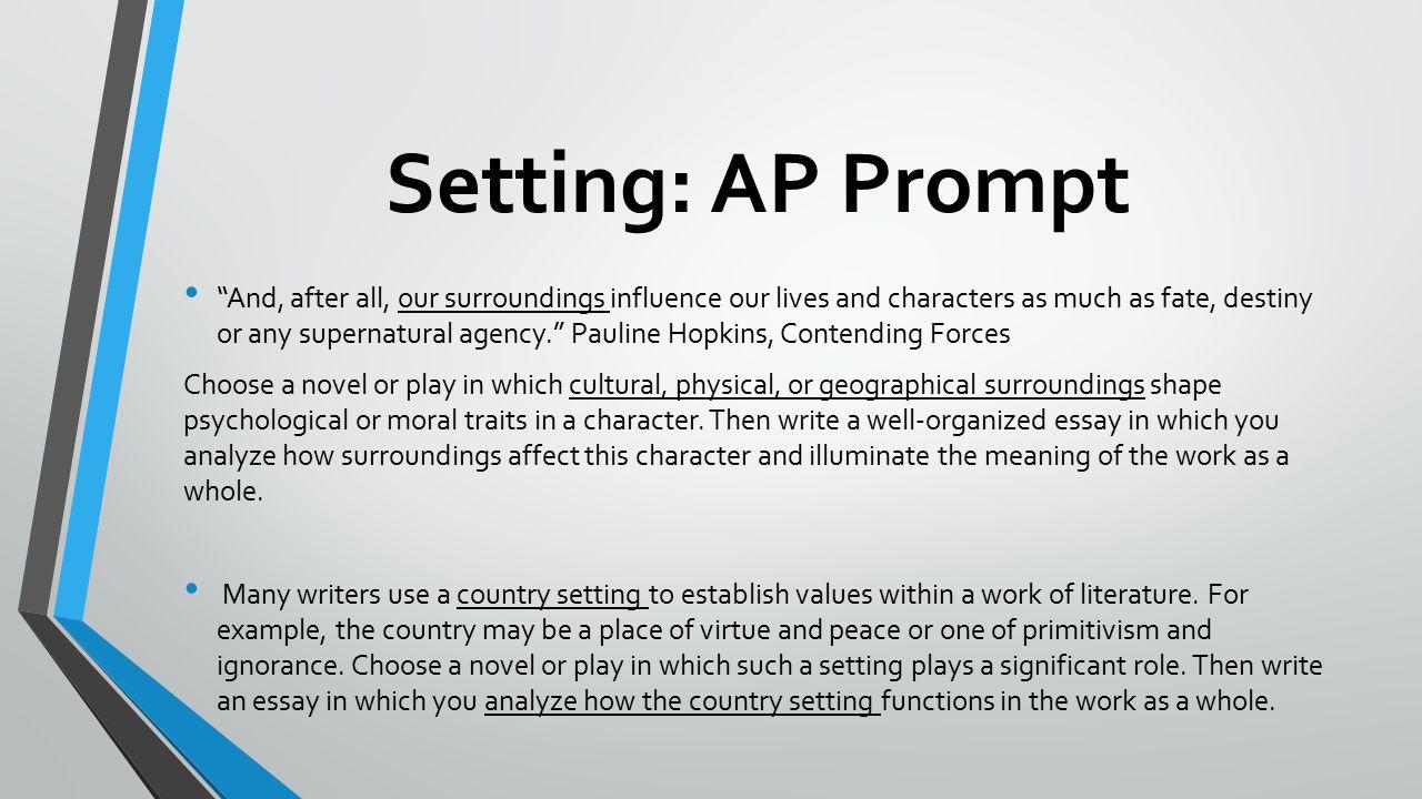 character analysis essay setup
