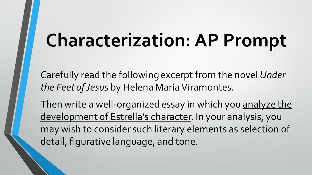 Characterization: AP Prompt