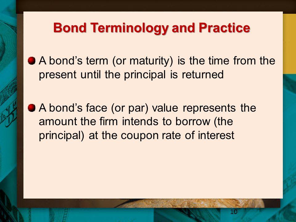 Bond Terminology and Practice