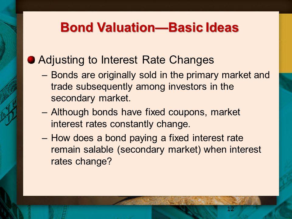 Bond Valuation—Basic Ideas
