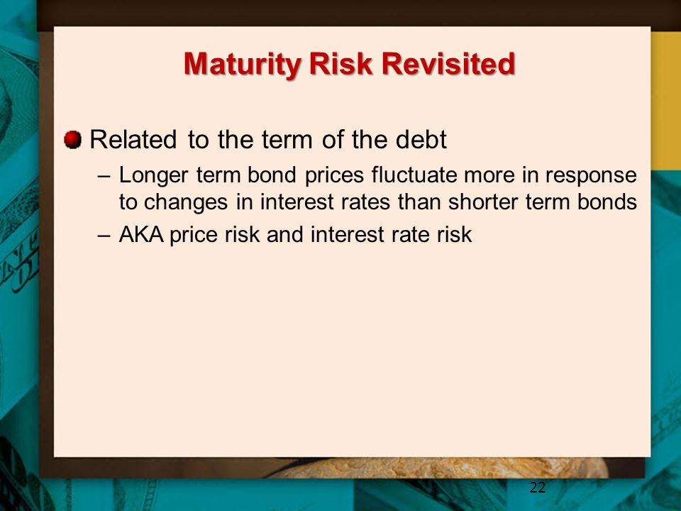 Maturity Risk Revisited