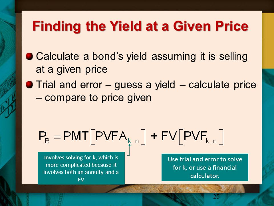 Finding the Yield at a Given Price