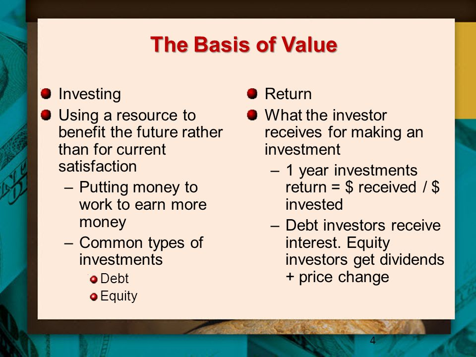 The Basis of Value Investing