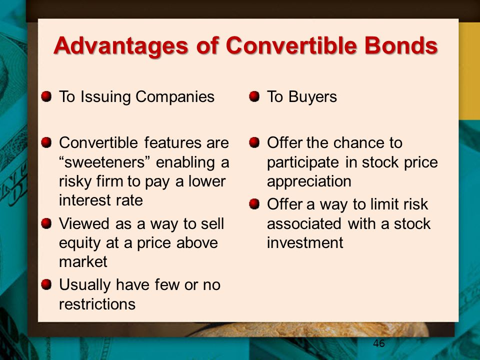 Advantages of Convertible Bonds