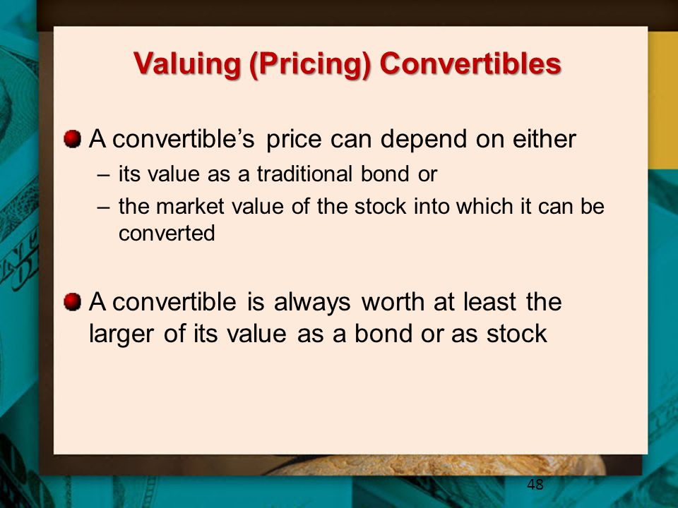 Valuing (Pricing) Convertibles