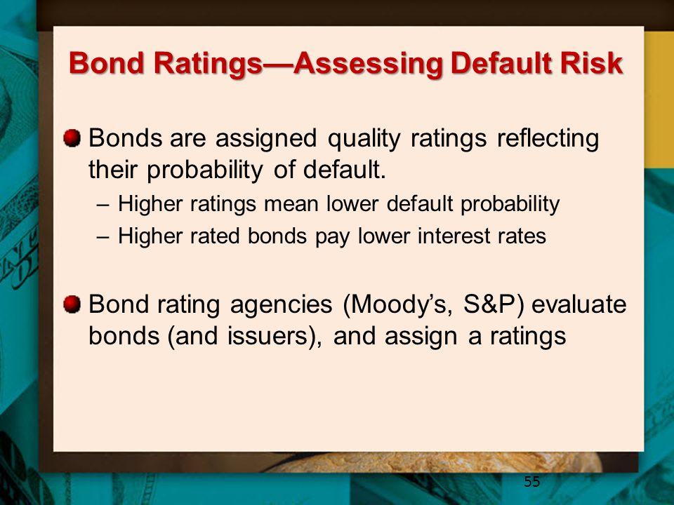 Bond Ratings—Assessing Default Risk