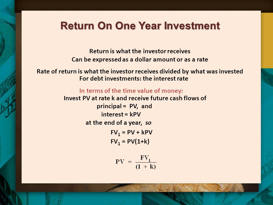 Return On One Year Investment