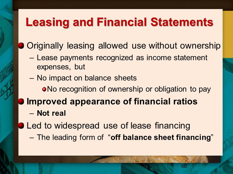 Leasing and Financial Statements