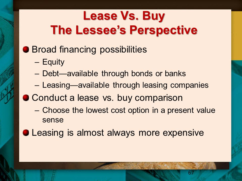 Lease Vs. Buy The Lessee's Perspective
