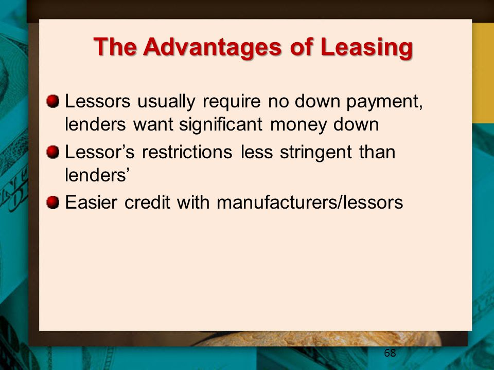 The Advantages of Leasing