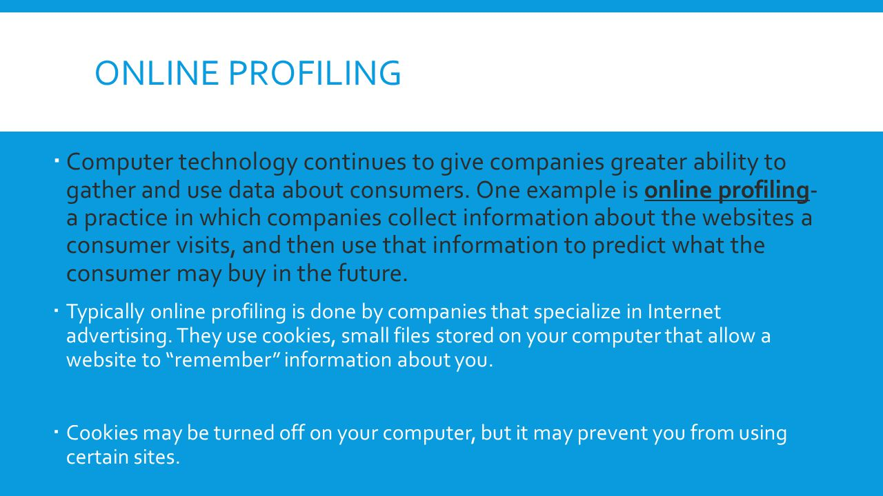 Online Profiling