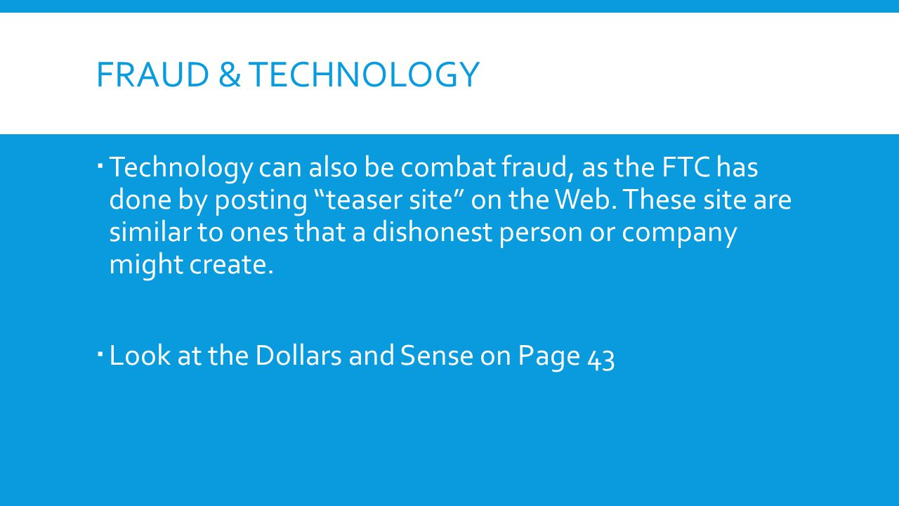 Fraud & technology