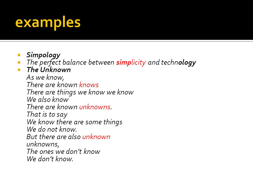 examples Simpology. The perfect balance between simplicity and technology.