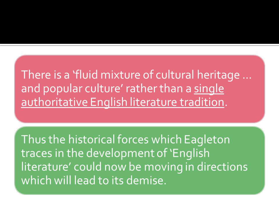 There is a 'fluid mixture of cultural heritage
