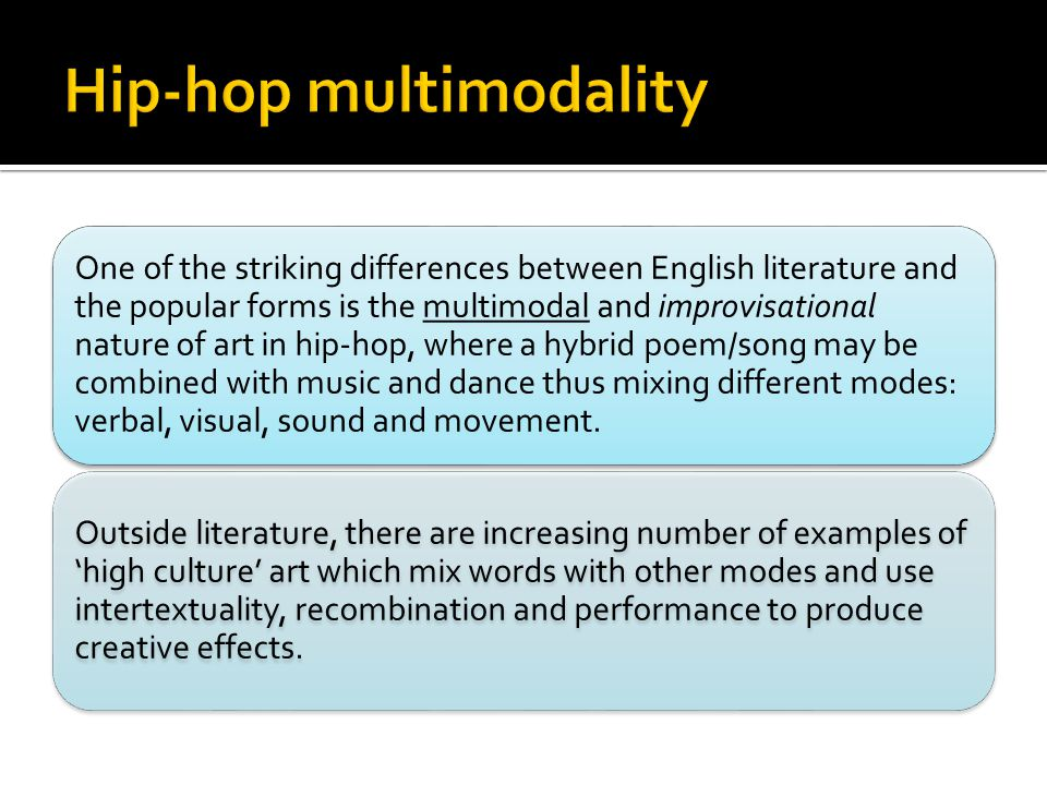 Hip-hop multimodality