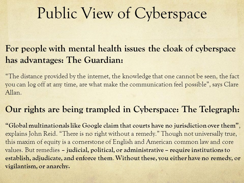 Public View of Cyberspace