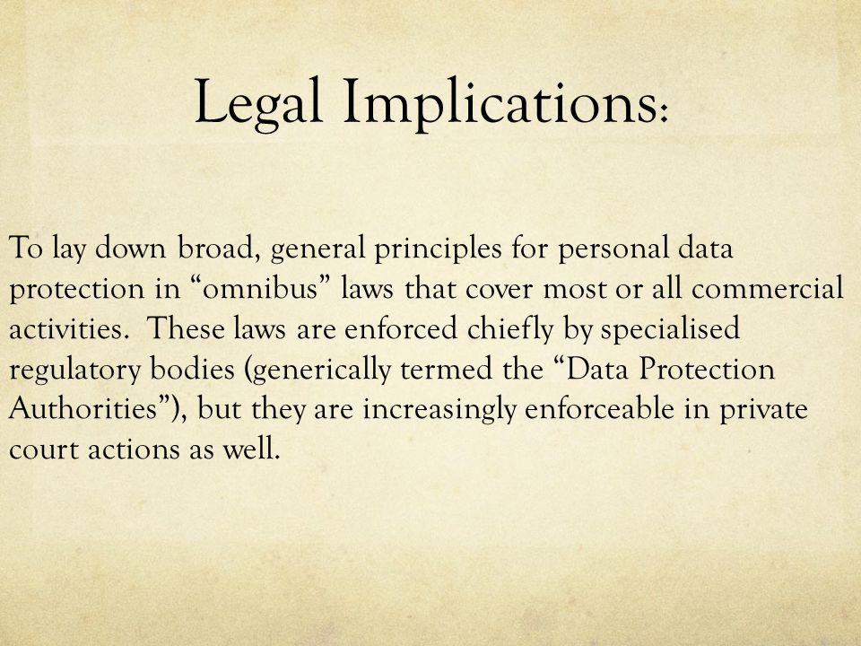 Legal Implications: