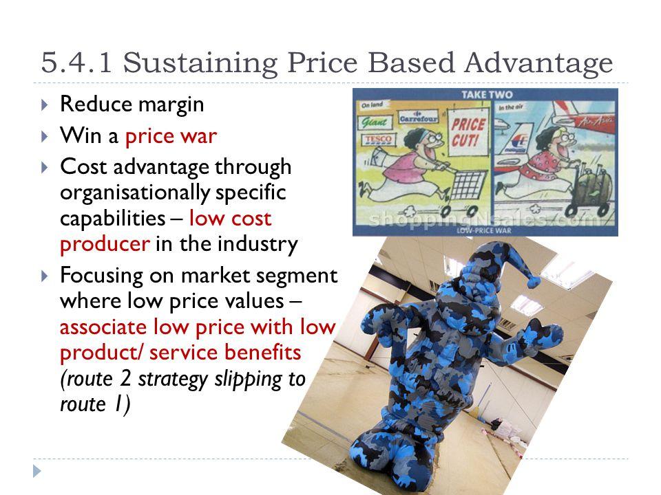5.4.1 Sustaining Price Based Advantage