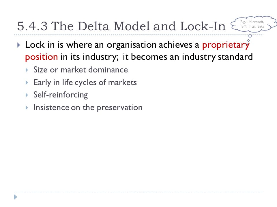 5.4.3 The Delta Model and Lock-In