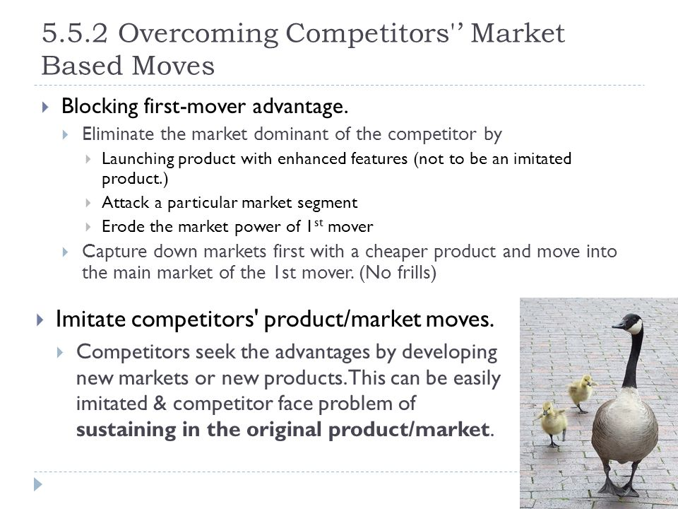 5.5.2 Overcoming Competitors ' Market Based Moves