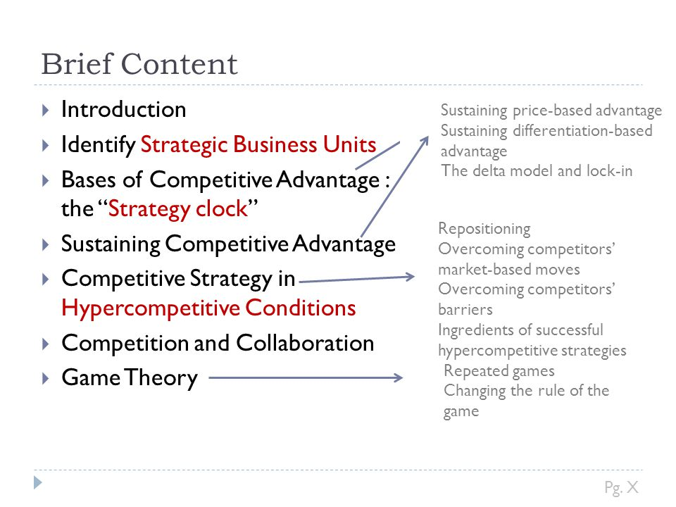 Brief Content Introduction Identify Strategic Business Units