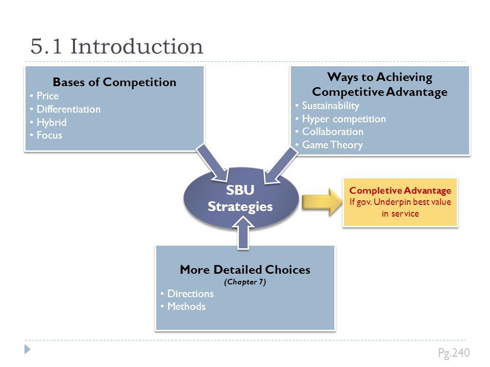 5.1 Introduction SBU Strategies