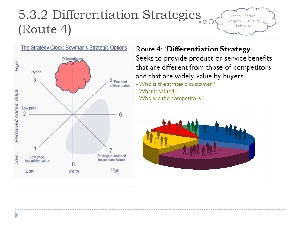 5.3.2 Differentiation Strategies (Route 4)