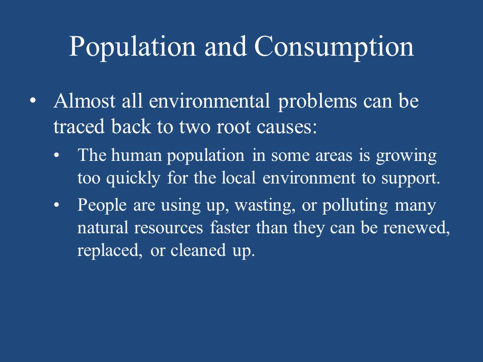 Population and Consumption