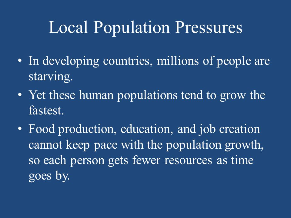 Local Population Pressures