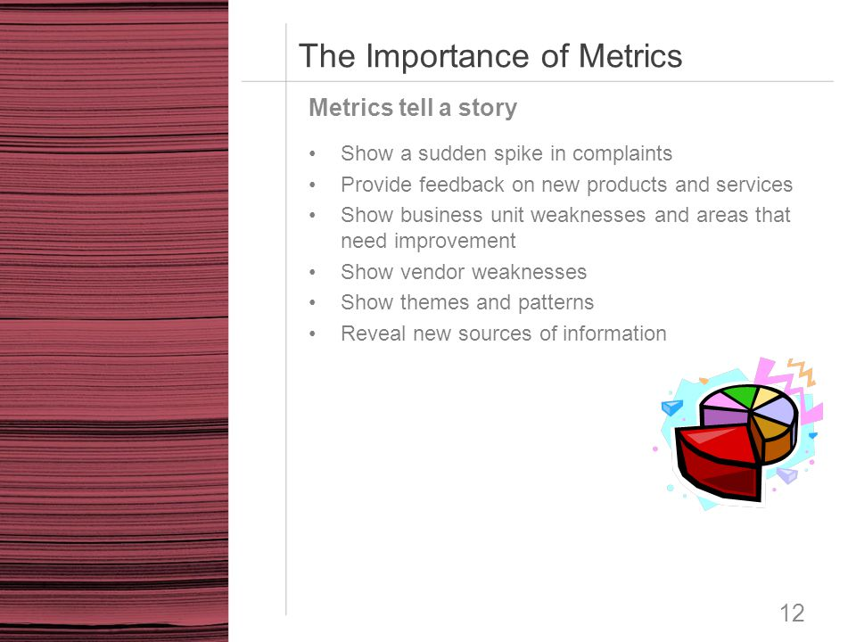 The Importance of Metrics