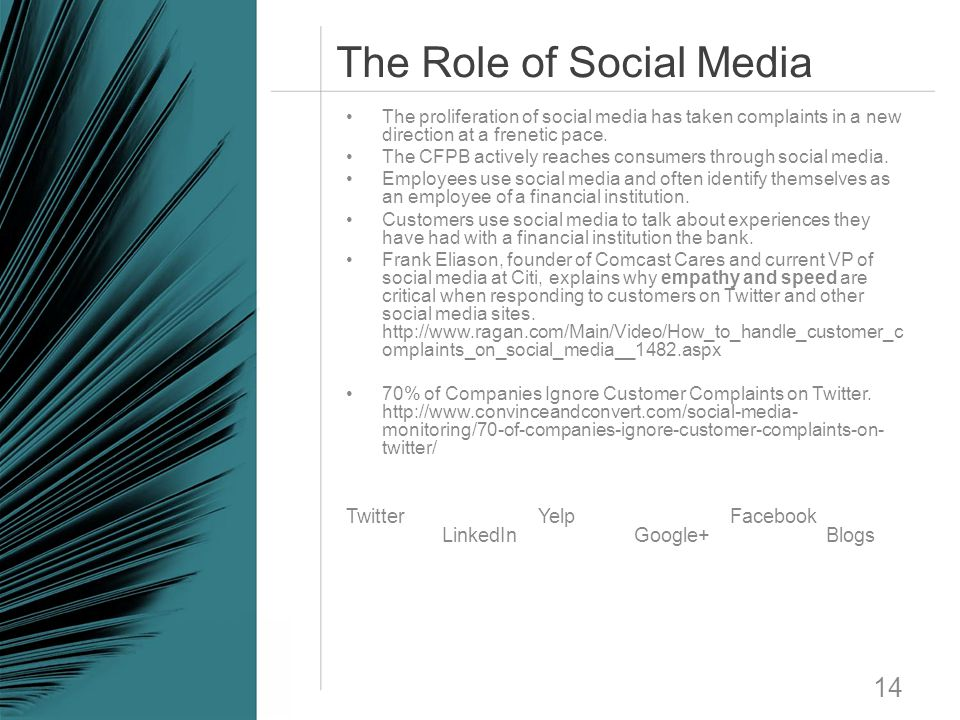 The Role of Social Media