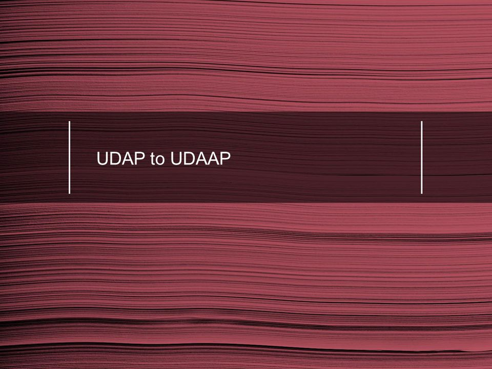 UDAP to UDAAP