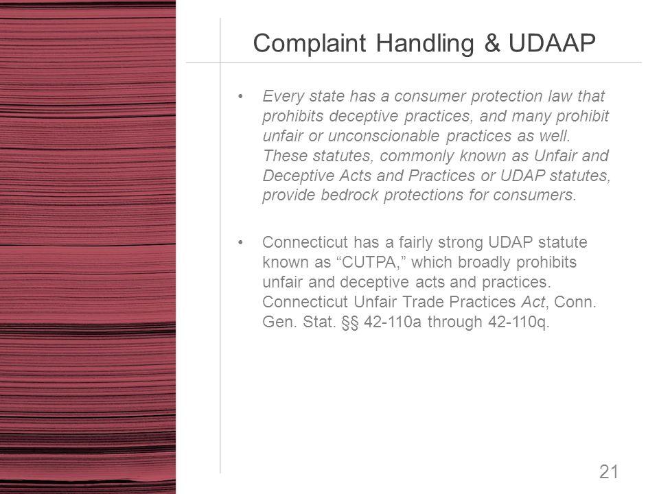 Complaint Handling & UDAAP