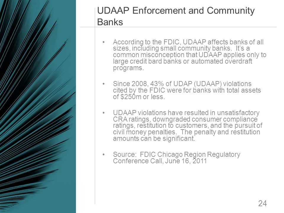 UDAAP Enforcement and Community Banks