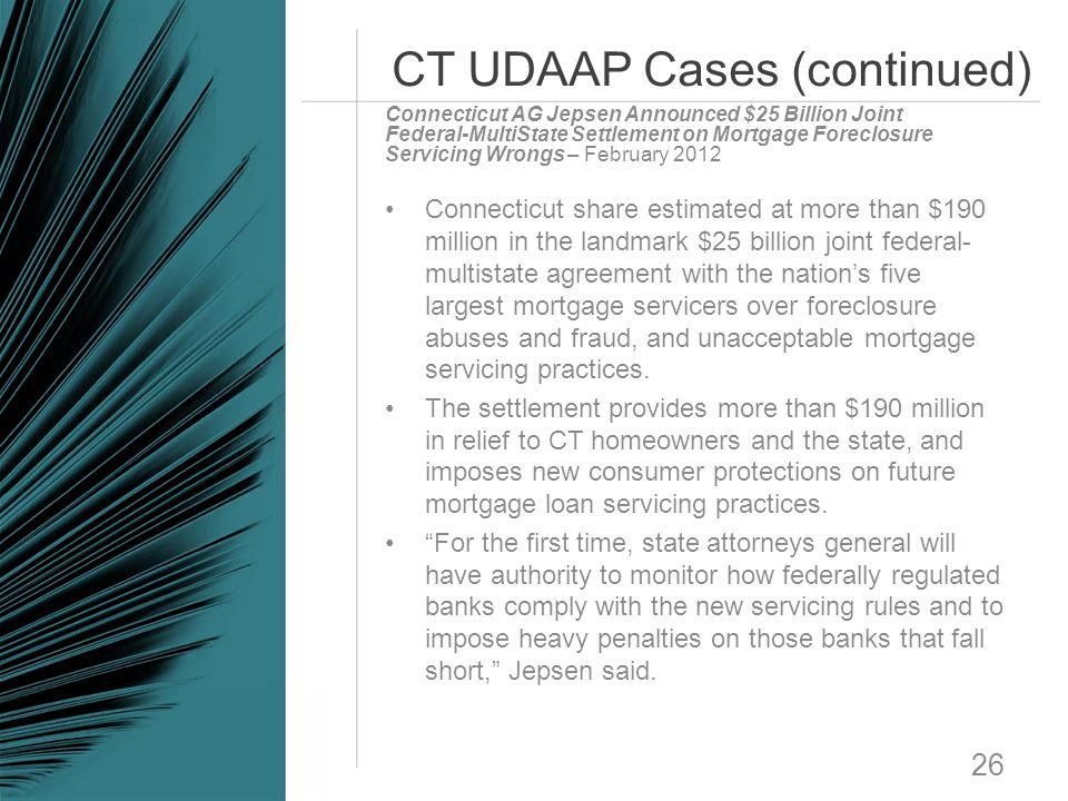 CT UDAAP Cases (continued)