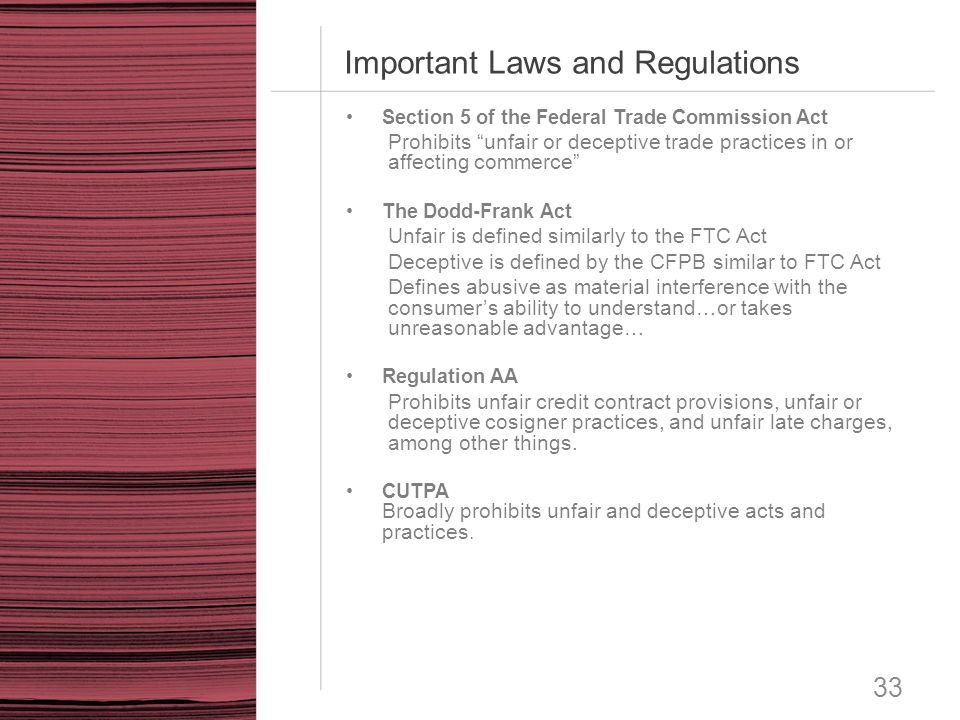 Important Laws and Regulations