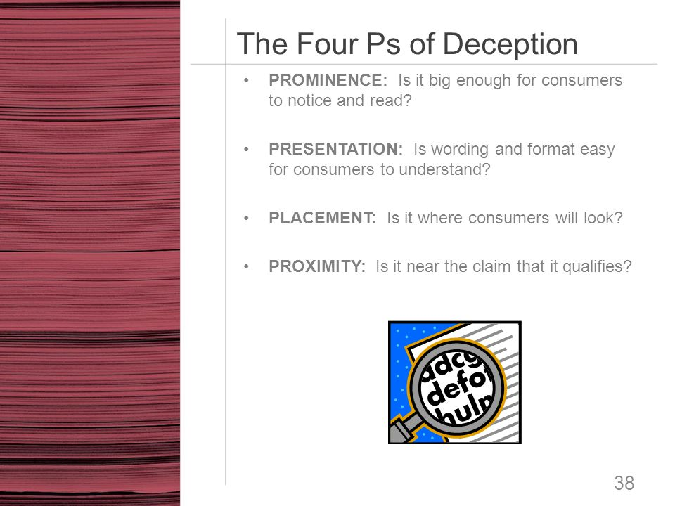 The Four Ps of Deception