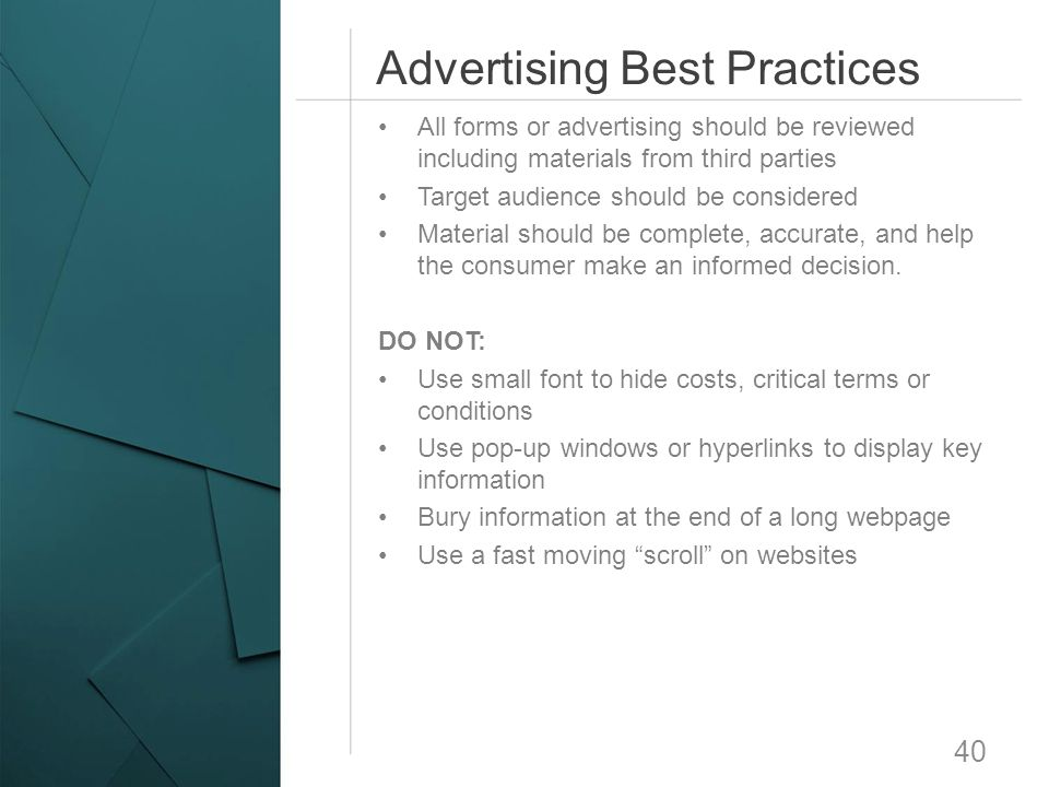 Advertising Best Practices
