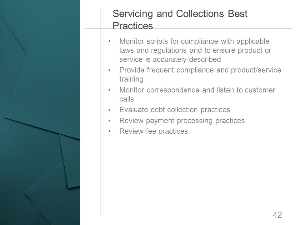 Servicing and Collections Best Practices