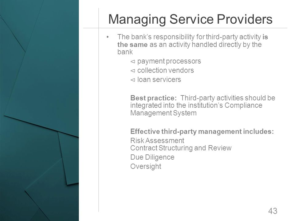 Managing Service Providers