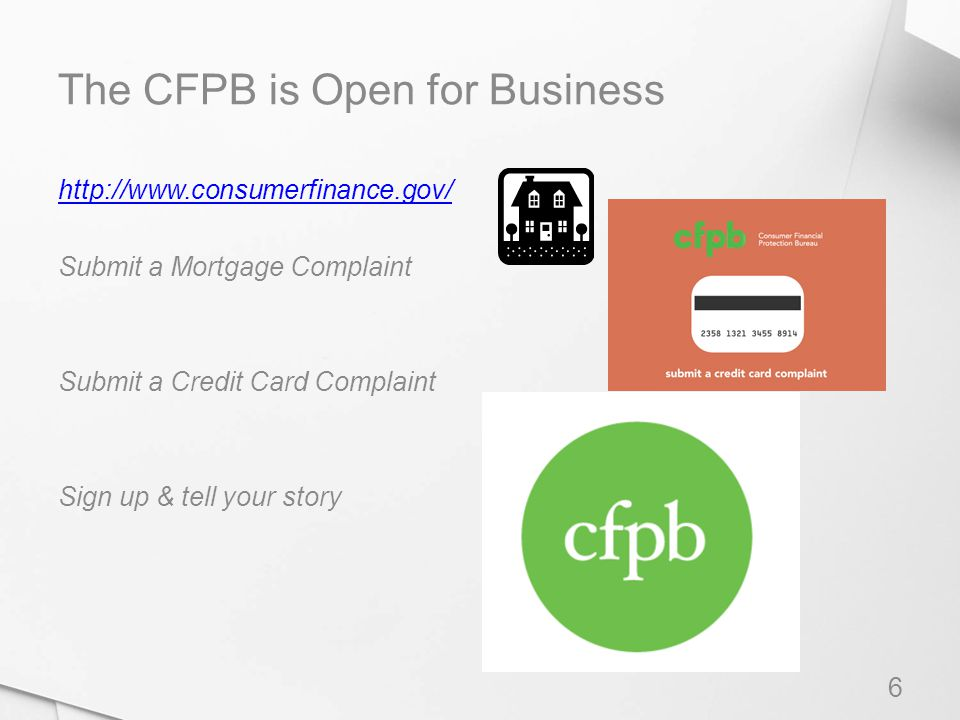The CFPB is Open for Business