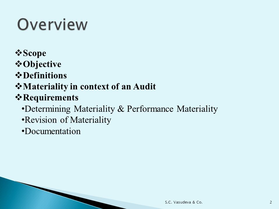 Overview Scope Objective Definitions