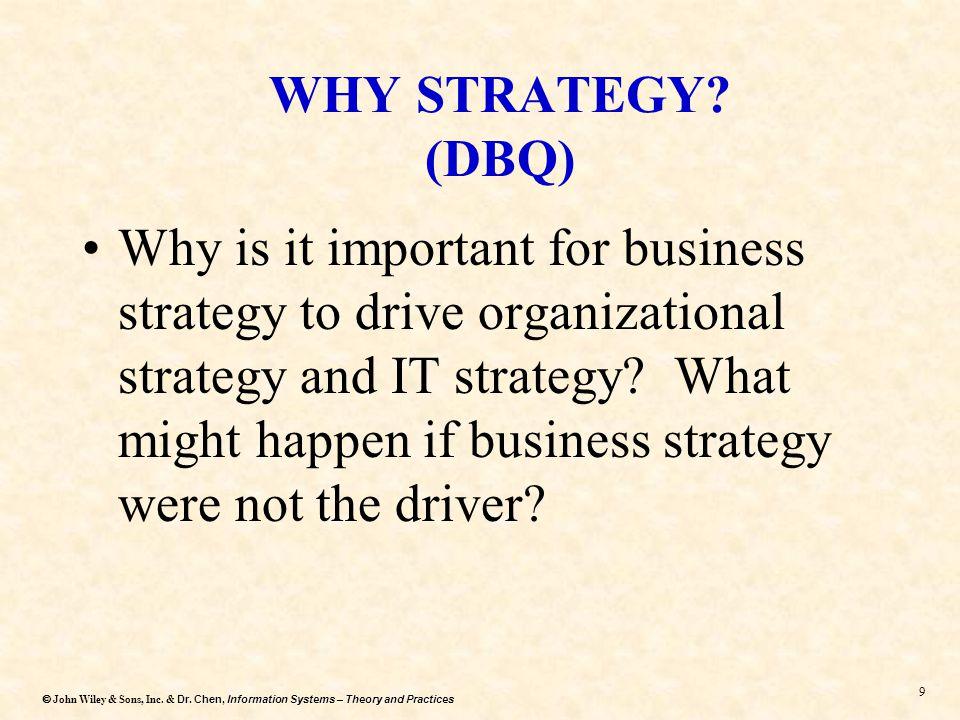 WHY STRATEGY (DBQ)