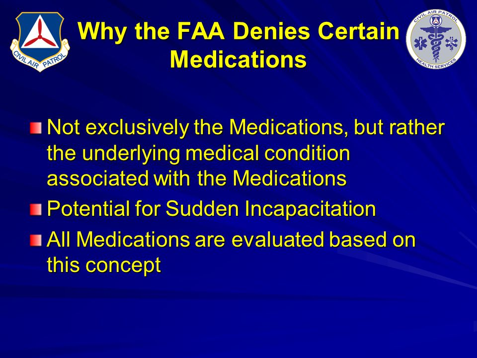 Why the FAA Denies Certain Medications