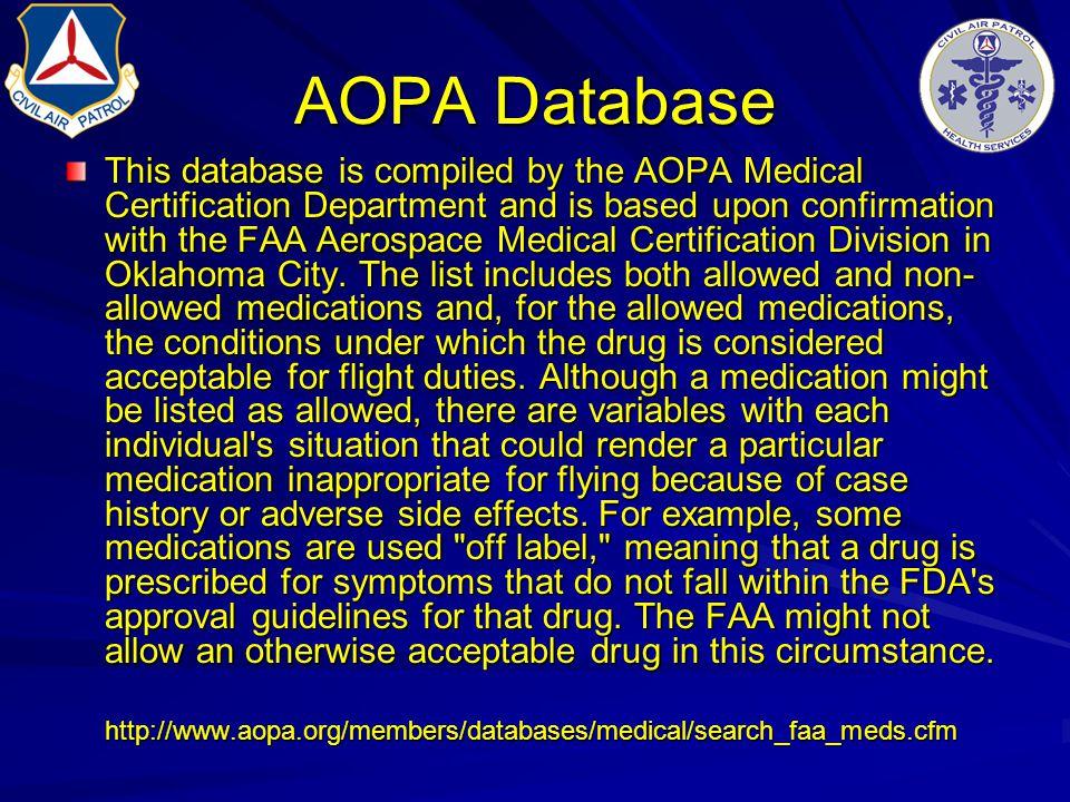 AOPA Database