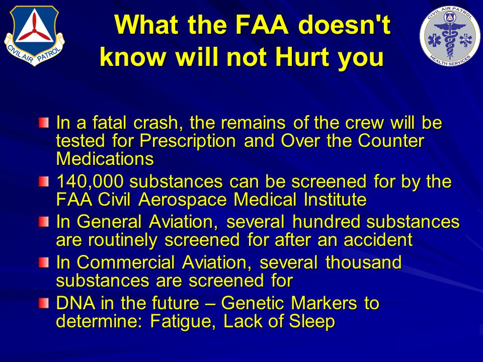 What the FAA doesn t know will not Hurt you