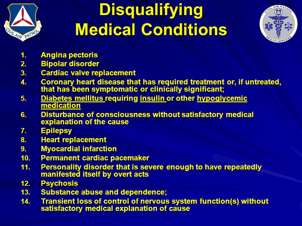Disqualifying Medical Conditions